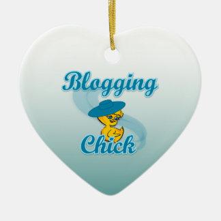 Pintinho Blogging #3 Ornamento De Cerâmica Coração