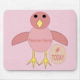 Pintinho cor-de-rosa feito sob encomenda Mousepad