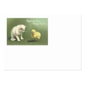 Pintinho da páscoa do gatinho do gato modelo cartao de visita