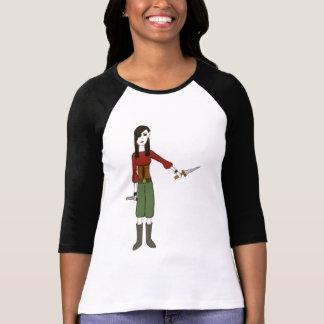 Pintinho do pirata camisetas