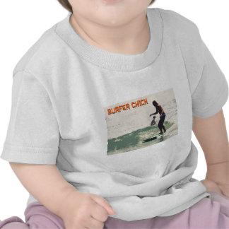 Pintinho do surfista camisetas