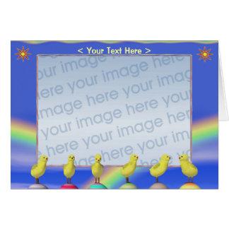 Pintinhos da páscoa (quadro da foto) cartão