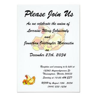 pintinhos do sideview dois da galinha convites personalizados