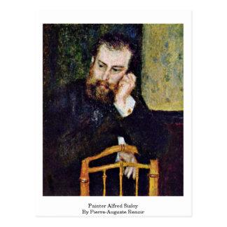 Pintor Alfred Sisley por Pierre-Auguste Renoir Cartões Postais