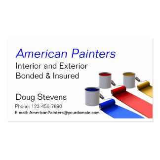 Pintor Modelo Cartões De Visita