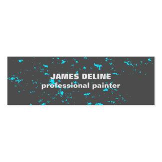 Pintor cinzento legal moderno do teste padrão do cartão de visita skinny