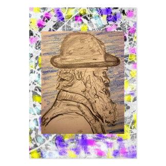 pintor com gotejamento do chapéu cartão de visita grande