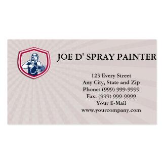 Pintor da arma da pintura pistola do cartão de modelos cartão de visita