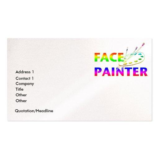 Pintor da cara cartão de visita