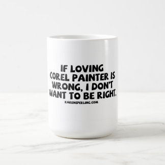 Pintor de amor de Corel Caneca