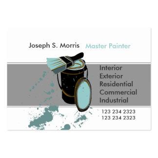 Pintor de casa azul da pintura cartão de visita grande
