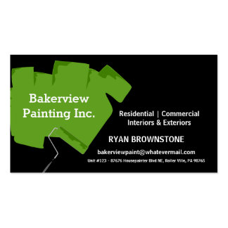Pintor de casa de Pro Pintura Empresa Cartão De Visita