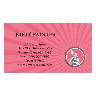 Pintor de casa do cartão de visita que guardara o