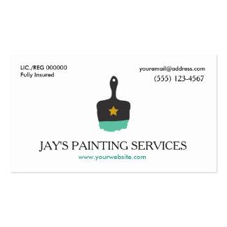 Pintor de casa, logotipo da escova de pintura cartão de visita