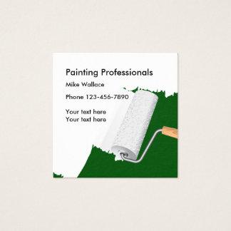 Pintor de casa nova cartão de visitas quadrado