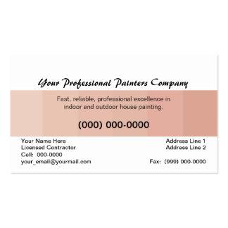 Pintor de casa profissional, cartão bege da cor cartão de visita