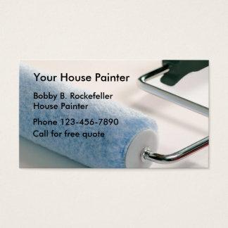 Pintor de casa simples cartão de visitas