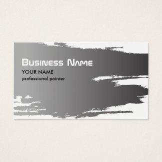 Pintor de prata do falso elegante profissional cartão de visitas