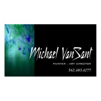 """Pintor do """"abstrato"""", artista gráfico, diretor de  modelos cartoes de visita"""