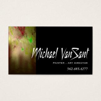 """Pintor do """"abstrato"""", artista gráfico, diretor de cartão de visitas"""