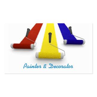 Pintor e cartão de visita dos decoradores