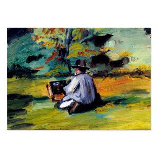 Pintor na arte impressionista Paul Cezanne do trab Cartões De Visita