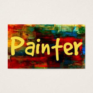 Pintor no cartão de visita da pintura