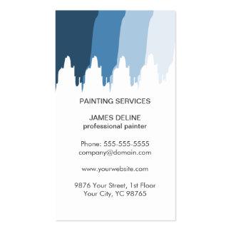Pintor profissional branco azul simples cartão de visita