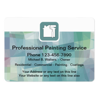 Pintor profissional cartão de visita grande