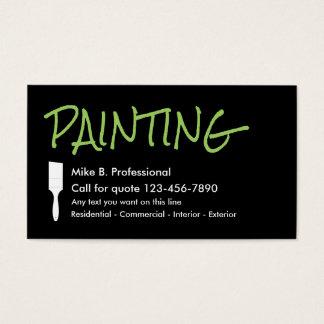 Pintor profissional lateral de Doubke Cartão De Visitas