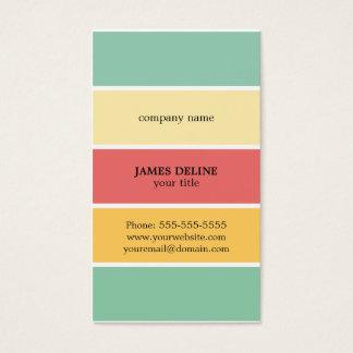 Pintor profissional listrado colorido legal cartão de visitas