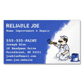 Pintor que pinta o trabalhador manual azul da