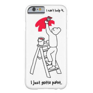 Pintores apenas conseguidos pintar capa barely there para iPhone 6