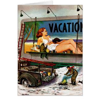 Pintores do quadro de avisos no inverno por Stevan Cartão Comemorativo