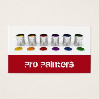 Pintores e cartão de visita dos decoradores