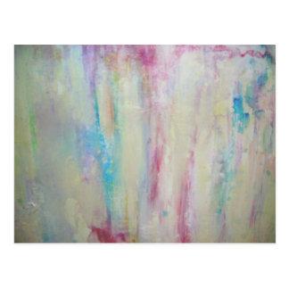 Pintura a óleo abstrata cartão postal