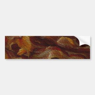 Pintura a óleo do bacon adesivo