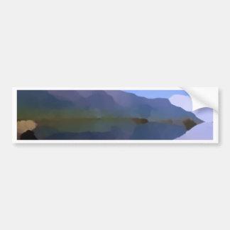 Pintura a óleo do lago mountain