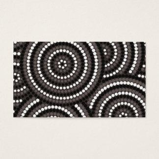 Pintura aborígene do ponto cartão de visitas