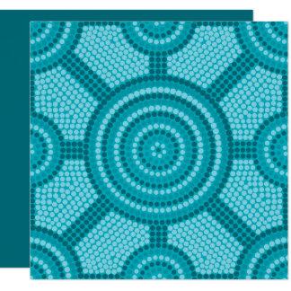 Pintura aborígene do ponto convite quadrado 13.35 x 13.35cm