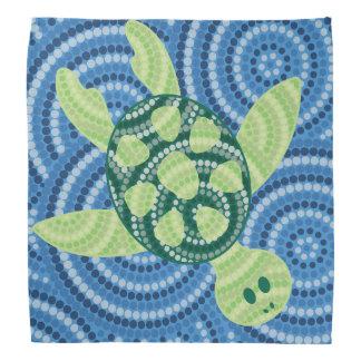 Pintura aborígene do ponto da tartaruga panos para cabeça