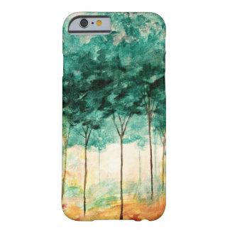 Pintura abstrata da floresta das árvores da arte capa barely there para iPhone 6