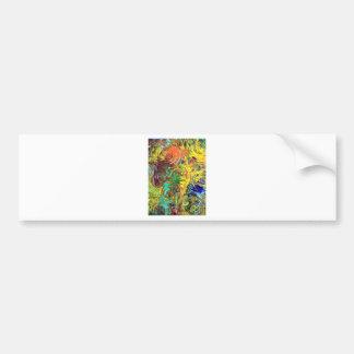 Pintura abstrata das espirais do arco-íris adesivos