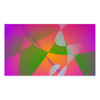 Pintura abstrata de Digitas da cor vívida Cartões De Visita
