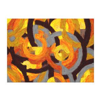Pintura abstrata em circulos - AB-0009G
