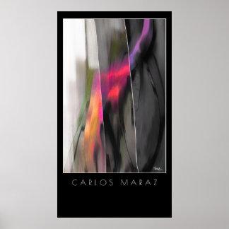 Pintura abstrata pelo impressão da arte de Carlos