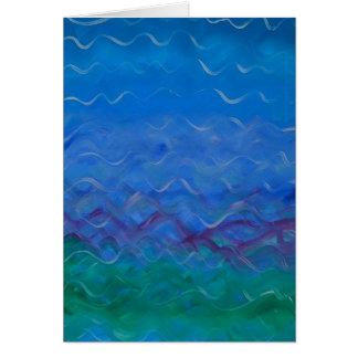"""Pintura acrílica da """"água"""" - no cartão vazio"""
