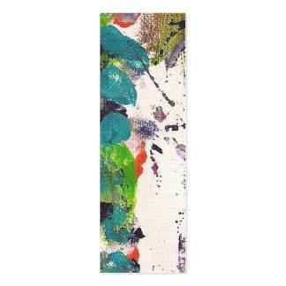 Pintura acrílica do cartão magro por Kismae Cartão De Visita Skinny