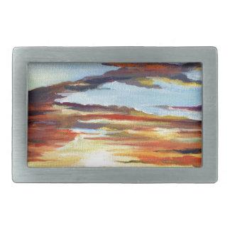 Pintura acrílica do por do sol