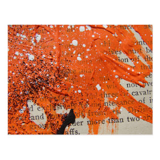 Pintura alaranjada abstrata cartão postal